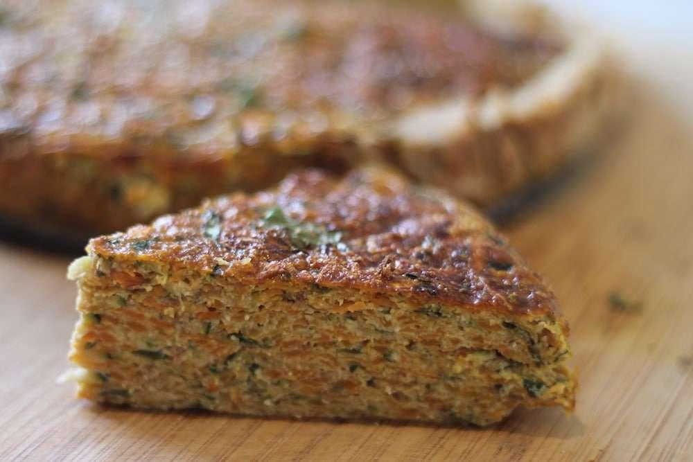 Sweet potato savoury slice