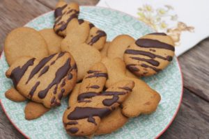 Easter Biscuits Finished Product With Drizzle